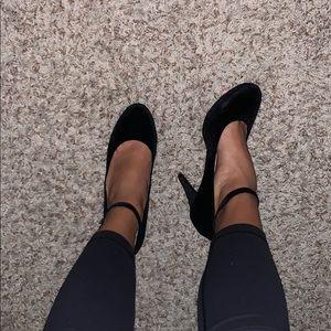 velvet/ suede heels
